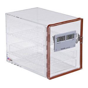 """Small Desiccator Cabinet with Hygrometer, 10 x 7 x 8.5"""""""