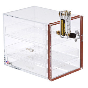 Nitrogen Purge Cabinet with Flow Meter, Small
