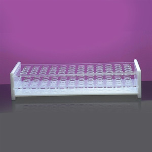 Test Tube Support Rack, 48-Place for 13mm Tubes, Acrylic, case/6