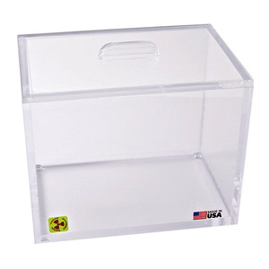 Beta Radiation Protection Storage Box with Lid, 9 x 6 x 7""
