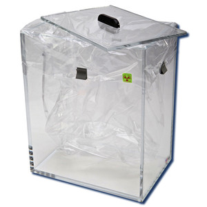 """Dry Waste Box with Lid for Radioactive Material, 13"""" x 9"""" x 15"""""""