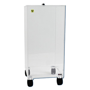 Mobile Big Beta Box with Casters, Beta Radiation Protection