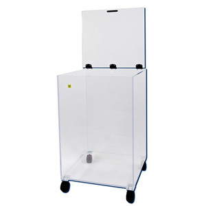 """Mobile Dry Waste Bin for Radioactive Material, 20"""" x 20"""" x 28"""""""