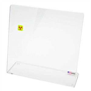 "Bench Top Single-Angle Beta Radiation Protection Shield, 11"" x 12"