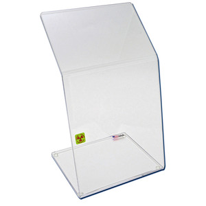 "Bench Top Dual-Bend Beta Radiation Protection Shield, 9"" x 15"""