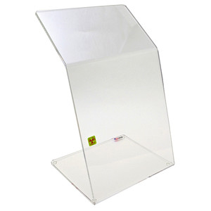 "Bench Top Dual-Bend Beta Radiation Protection Shield, 10"" x 18"""
