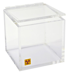 "Beta Waste Bin and Storage Box for Radioactive Material, 6"" x 6"""
