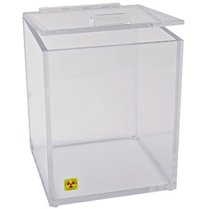 "Beta Waste Bin and Storage Box for Radioactive Material, 8"" x 10"""