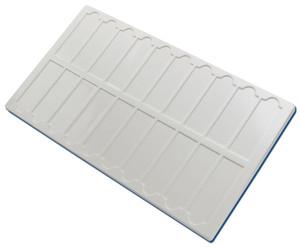 """Microscope Slide Tray for (20) Standard 1"""" x 3"""" Slides, PVC , case/10"""