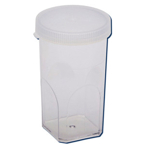 Coulter Cups, Polystyrene with lid, Leakproof, Graduated, case/1000