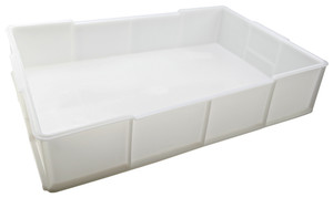 "Stackable Deep Tray, HDPE, 22 x 14 x 4.5"", 16 Liters"