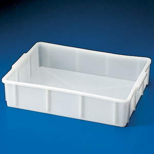 "Stackable Deep Tray, HDPE, 19 x 16 x 6"", 20 Liters"