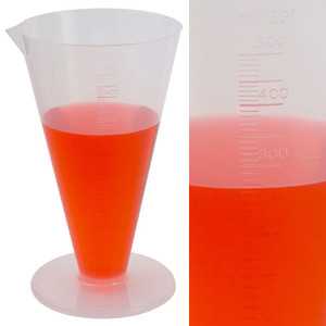 500mL Conical, Graduated Cylinders, case/6