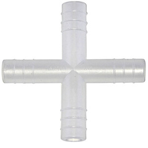 Connector, Polypropylene, 4-Way, 14 mm, pack/100