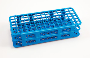 90-Place Test Tube Rack, Blue, 13mm, pack/5