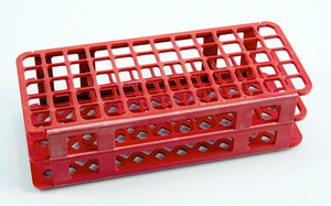 60-Place Test Tube Rack, Red, 16mm, pack/5