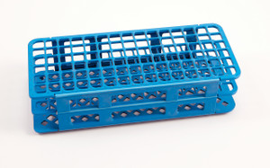 60-Place Test Tube Rack, Blue, 16mm, pack/5