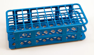 40-Place Test Tube Rack, Blue, 20mm, pack/5