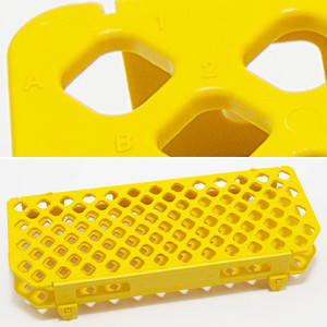 Yellow Microcentrifuge Tube Rack, 1.5mL, pack/5