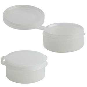 Pop-Top Plastic Jars with Hinged Lid, 1/2oz, case/100