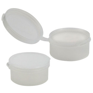 Pop-Top Plastic Jars with Hinged Lid, 1oz Squat, case/100