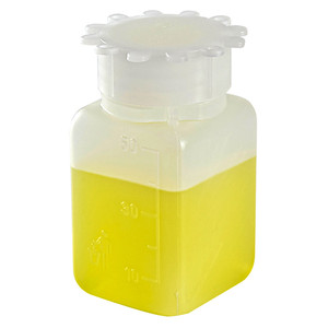 Square Bottles, Graduated HDPE, 50mL, case/100
