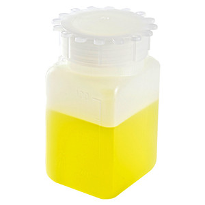 Square Bottles, Graduated HDPE, 100mL, case/100