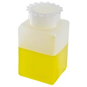 Square Bottles, Graduated HDPE, 250mL, case/100