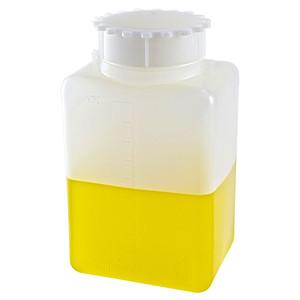 Square Bottles, Graduated HDPE, 1000mL, case/24