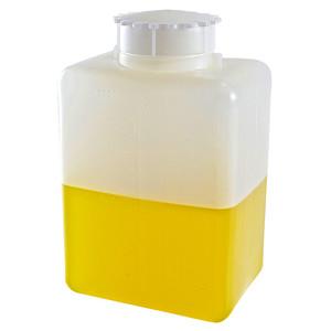 Square Bottles, Graduated HDPE, 2000mL, case/12