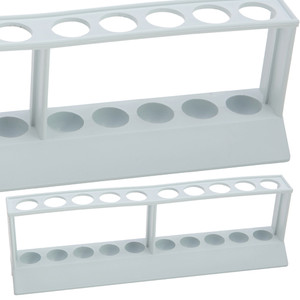 """Test Tube Rack, 2-Tier, 18mm Tubes, HDPE, 9-3/4"""" x 2-3/8"""" x 2-7/8"""", pack/5"""