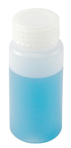 Wide Mouth Lab Bottles, HDPE, 8oz, Bulk, case/180