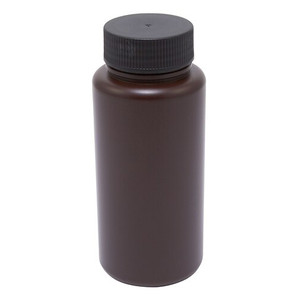 Wide Mouth Lab Bottles, HDPE, Amber 32oz, case/24