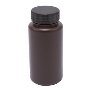 Wide Mouth Lab Bottles, HDPE, Amber 64 oz, case/6