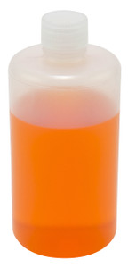 Lab Bottles, Narrow Mouth LDPE, 16oz Bulk, case/100