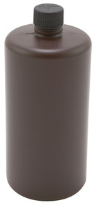 Lab Bottles, HDPE, Narrow Mouth, Amber 32oz, case/24