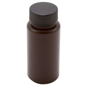 Amber Wide Mouth Bottles, Polypropylene 250mL, case/70