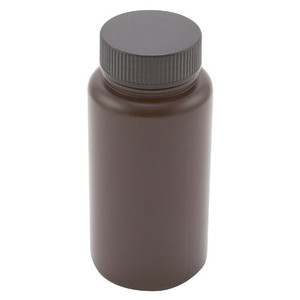 Amber Wide Mouth Bottles, Polypropylene 500mL, case/50
