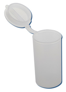 Hinged Vials, HDPE with Snap Caps, 25mL, case/1000