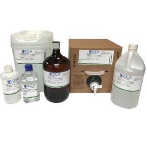 Water, ACS Reagent Grade, 4 Liter Amber Glass bottle
