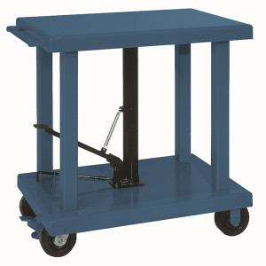 "Wesco 260064 24"" x 36"" Medium Duty Table, 6"" Casters, 2000 lb Capacity"