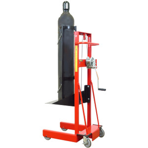 "Cylinder Lift, 4-Wheel, hydraulic pump, 58""H x 20""H x 29.25""D"