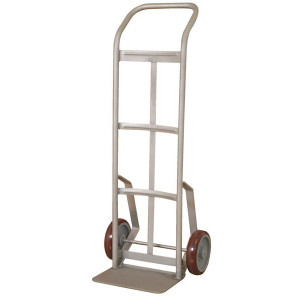 """Series 156 Industrial Duty Steel Hand Truck, Stainless Steel, 22.5""""W x 48""""H x 16.5""""D or 18.5""""D"""