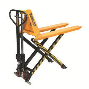 "Manual High Lift, Model TSHL21 with polyurethane wheels & Loop handles, 21"" x 44.5""D"
