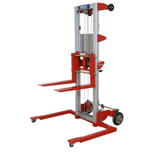 """Hand Winch Lifter, Adjustable Straddle with Adjustable Straddle and 400 lbs Capacity, 29""""W x 68""""H x 43""""D"""