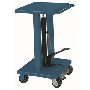 "Wesco 18"" x 18"" Standard Duty Table, 4"" Casters, 500 lb Capacity, 18""W x 30.5""H x 21.25""D"
