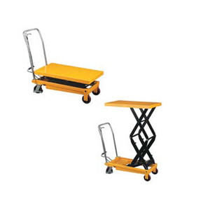 770 lb Capacity Double Scissors High Lift Table with Lever release handle and Foot operated pump