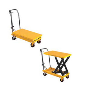 700 Lb Capacity Fixed Handle Scissors Lift Table With Foot Operated Pump
