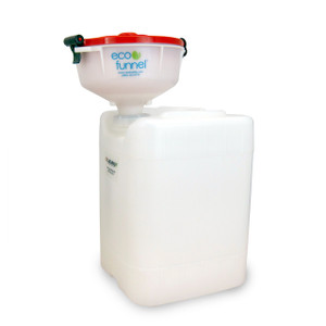 "8"" ECO Funnel® System, 20L Rectangular SW Drum, 70mm Cap"