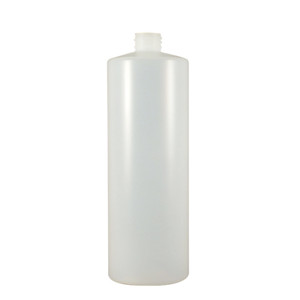 Certified Clean 32 oz Cylinder Bottles with Screw Caps, HDPE, case/12